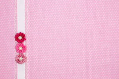 Pink polka dot textile Stock Photos