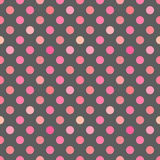 Pink polka dot texture. Vector illustration Royalty Free Stock Photos