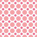 Pink Polka Dots. A seamless background pattern of alternating pink dots Royalty Free Stock Photos