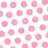 Pink polka dots royalty free illustration