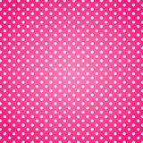 Pink polka dots background. Pink background with white polka dots Stock Images