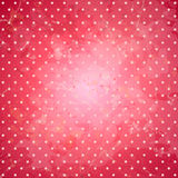 Pink polka dots vector backdrop. Royalty Free Stock Image