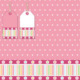 Pink polka wrapping Royalty Free Stock Images