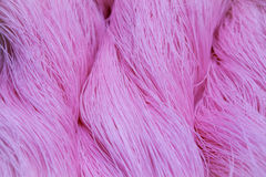 Pink polyester ropes Royalty Free Stock Images