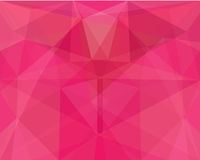 Pink polygon abstract background. Stock Image