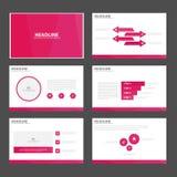 Pink polygon presentation templates Infographic elements flat design set for brochure flyer leaflet marketing Stock Photo