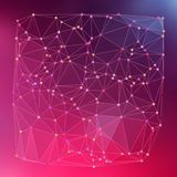 Modern abstract background triangles 3d effect glowing light94. Pink polygonal image, which consist triangles. Triangular pattern for your business design Royalty Free Stock Image