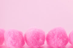 Pink pompoms Stock Images