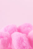 Pink pompoms Stock Photo