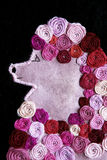 Pink poodle textile art Royalty Free Stock Photography