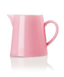 Pink Porcelain Pitcher Stock Image