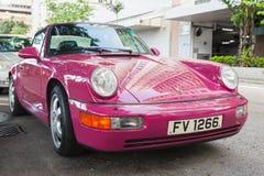 Pink Porsche 964 Carrera 2 cabriolet Stock Photography