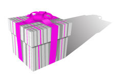 Pink positive gift box Stock Photography