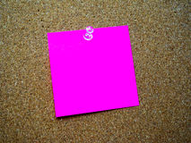Pink post it note Royalty Free Stock Photography
