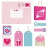 Pink postage stock illustration