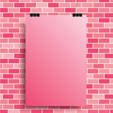 A pink poster on a pink wall. EPS 10. Stock Image