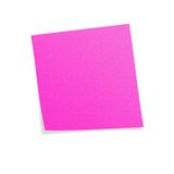 Pink postit. Note with white background Stock Photo