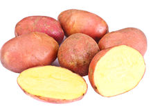 Pink Potato Sweet Batata Isolated on White Background Stock Image