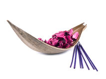 Pink potpourri with incenses Royalty Free Stock Photography