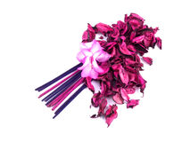 Pink potpourri with incenses and pink flower Stock Image