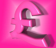 Pink pound sign Royalty Free Stock Image