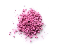 Pink powder eyeshadow for makeup as sample of cosmetic product Stock Photo