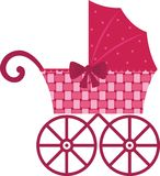 Pink Pram Stock Photography