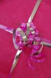 Pink present stock photos