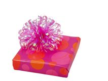 Pink present royalty free stock image