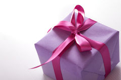 Pink present stock images
