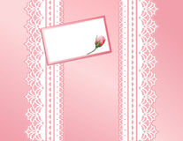 Pink Present, Antique Lace, Gift Card  Stock Photo