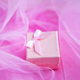 Pink present box Stock Images