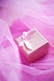 Pink present box Stock Image