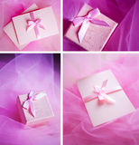 Pink present box Royalty Free Stock Photography