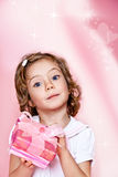 Pink present box Royalty Free Stock Images