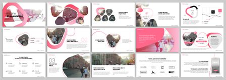 Pink presentation templates elements on a white background. Vector infographics. Royalty Free Stock Image