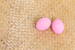 Pink preserved egg Royalty Free Stock Images