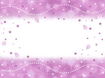 Pink princess bling party background with blank space Stock Images