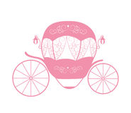 Pink Princess Cinderella Fairytale carriage. Vector Illustration Stock Image