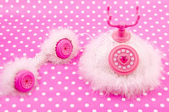 Pink princess royal phone Stock Images