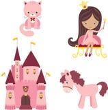 Pink princess set Stock Photo
