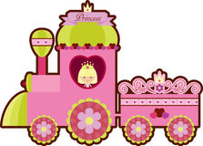 Pink princess train Royalty Free Stock Image