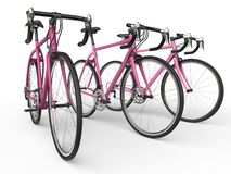 Pink pro race bikes Stock Images