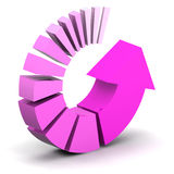Pink Process Arrow Royalty Free Stock Photo