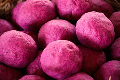 Pink Processed and dyed Elephant poo fiber for making paper Royalty Free Stock Photo