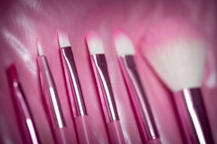 Pink professional cosmetic brush Stock Images