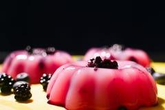 Pink puddings Stock Photos