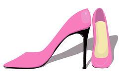 Pink pumps. Vector illustration of pink pumps isolated on white background Royalty Free Stock Photography