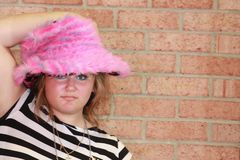 Pink Punk Hat Stock Photo