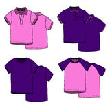 Pink and puple t-shirts. Vector illustration for your design. Pink and puple t-shirts Royalty Free Stock Image